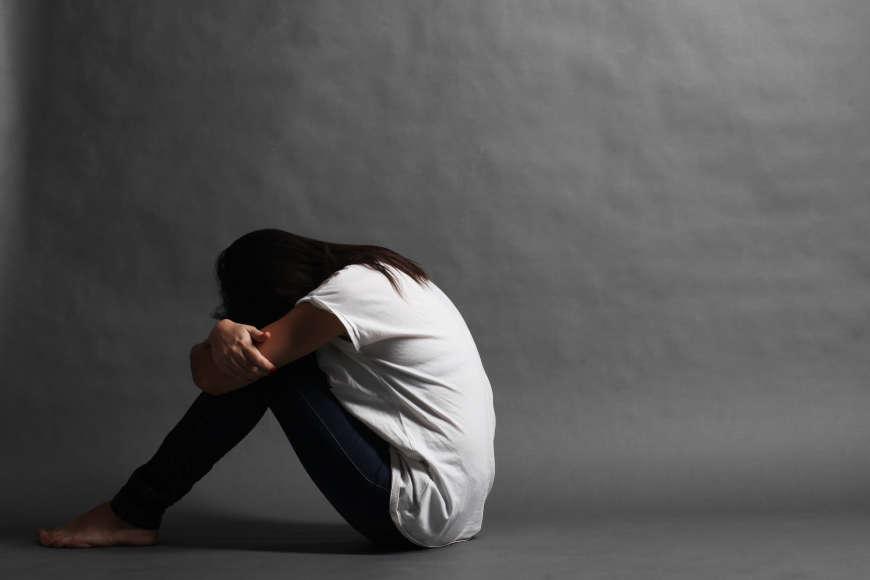 tužna učenica