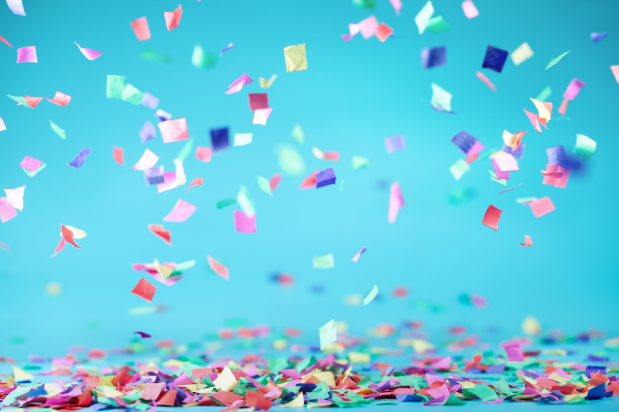 konfete slavlje