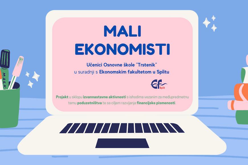 """Projekt """"Mali ekonomisti"""" – poduzetna djeca, sigurnija budućnost!"""